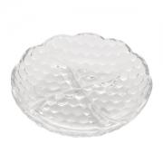 Petisqueira Bubble de Cristal com 4 Divisórias 18cm 1287 Lyor