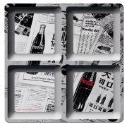 Petisqueira Quadrada Coca Cola News Paper 21,5CM 26161