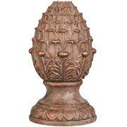 Pinha Decorativa Cerâmica Cobre Rustico 14,5X24CM 7803 Mart