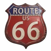 Placa Decorativa Metal Route 66 - HD0260