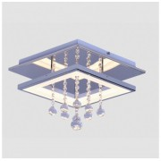 Plafon Cristal Cromado Sobrepor LED 12W 3000K 35x35cm QPL1336P