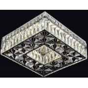 Plafon De Cristal Quadrado 35cm LED 32W Com Controle Remoto Bivolt