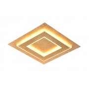 Plafon de Embutir Dourado 35cm LED 32W 3000k Bivolt