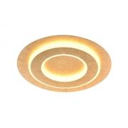 Plafon de Embutir Redondo Dourado 35cm LED 24W 3000k Bivolt