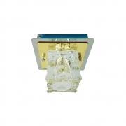 Plafon Frost Dourado 1G9 12,5cm Bronzearte