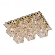 Plafon Frost Dourado 6G9 33x22cm Bronzearte