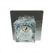 Plafon Frost Inox 1*G9 Bivolt 12,5x12,5cm Bronzearte