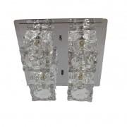 Plafon Frost Inox 4 Luzes 22,2x22,2cm 4G9 Bivolt Bronzearte