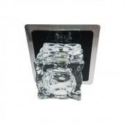 Plafon Frost Preto 1G9 Bivolt 12,5x12,5cm Bronzearte