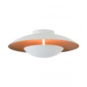 Plafon Luz Indireta Branco / Cobre Interno Redondo 6G9 36CM 5452 Piuluce