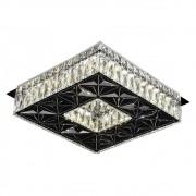 Plafon Quadrado Cristal 35cm Led 32W 6000K Bivolt