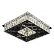 Plafon Quadrado Cristal Cromado 35cm Led 32W 3000K Bivolt