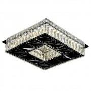 Plafon Quadrado Cristal Cromado 35cm Led 32W 6000K Bivolt