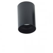 Plafon Spot de Sobrepor para AR70 GU10 Redondo Recuado Preto DS2450 Delis