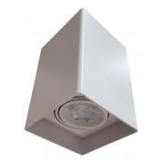 Plafon Spot de Sobrepor para PAR20 E27 Quadrado Recuado Branco DS2447 Delis