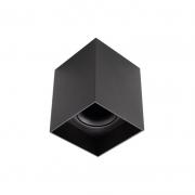 Plafon Spot de Sobrepor para PAR20 E27 Quadrado Recuado Preto DS2448 Delis