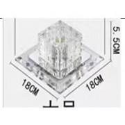 Plafon Spot Embutido Cristal LED 5W 3000k Bivolt