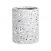 Porta Escova de Dentes Cinza em Cerâmica 9,5cm 11761-2 Mart