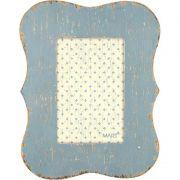 Porta Retrato Madeira Azul Vintage Para Foto 13X18CM 5534