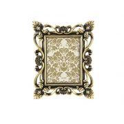 Porta Retrato Plástico Preto/Dourado 13X18CM 6412
