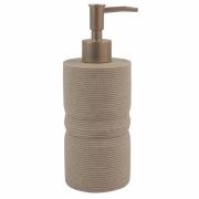 Porta Sabonete Liquido Bege em Resina 19,5cm PO0128 BTC
