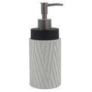 Porta Sabonete Liquido Branco e Preto em Resina 19,5cm PO0127 BTC