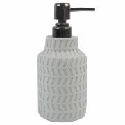 Porta Sabonete Liquido Branco em Resina 19,5cm PO0132 BTC