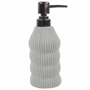 Porta Sabonete Liquido Branco em Resina 19cm PO0134 BTC