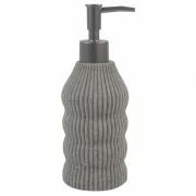 Porta Sabonete Liquido Cinza em Resina 19,5cm PO0133 BTC