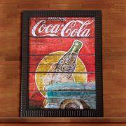 Quadro Decorativo Com Moldura Coca Cola 30X40CM QD01