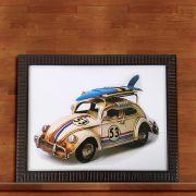 Quadro Decorativo Com Moldura Fusca Herbie 53 30X40CM QD12