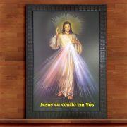 Quadro Decorativo Com Moldura Jesus 60X90CM QD43