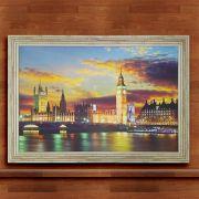 Quadro Decorativo Com Moldura Londres 60X90CM QD45
