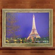 Quadro Decorativo Com Moldura Torre Eiffel 50X70CM QD37