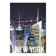 Quadro Decorativo New York Night Lights 50X70CM BTC