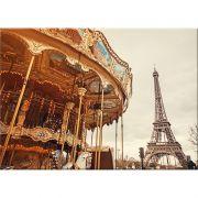 Quadro Decorativo Paris Colorido 50x70cm Btc