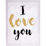 Quadro Em Canvas Decorativo Com Moldura I Love You 09581 30X40CM Mart