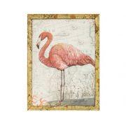 Quadro Em Canvas Flamingo Decorativo Com Moldura 20x15CM 6965