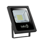 REFLETOR LED 20W 3000K IP65 BIVOLT SLIM BRILIA