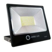 Refletor Super LED 100W 3000K IP66 Slim Embu LED