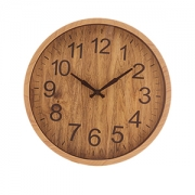 Relogio de Parede Redondo Wood 30cm 1540 Lyor