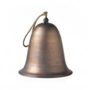 Sino Decorativo de Metal Bronze com Detalhe em Barbante 24cm LC0367 BTC