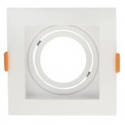 Spot de Embutir Conecta Abs Branco MR16 Dicroica Direcionável Recuado 10,2cm DL146DICW Bella