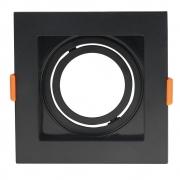 Spot de Embutir Conecta Abs Preto MR16 Dicroica Direcionável Recuado 10,2cm DL146DICB Bella