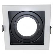 Spot de Embutir Face Recuada Direcionável AR70 Branco e Preto DS2434 Delis