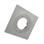 Spot Embutir AR111 Direcionável Quadrado Plano Prata