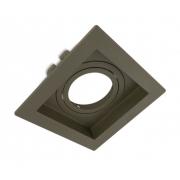 Spot Embutir AR111 Direcionável Quadrado Recuado Oliva