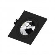 Spot Embutir AR111 Quadrado Termoplastico Preto Face Plana Save Energy