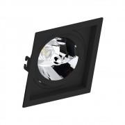 Spot Embutir AR111 Quadrado Termoplastico Preto Face Recuado Save Energy
