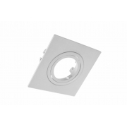 Spot Embutir Dicróica MR16 Direcionável Quadrado Plano Branco